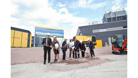 Ground-breaking for the new halls