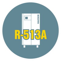 KAESER Kompressoren uses R-513A in its refrigeration dryers.