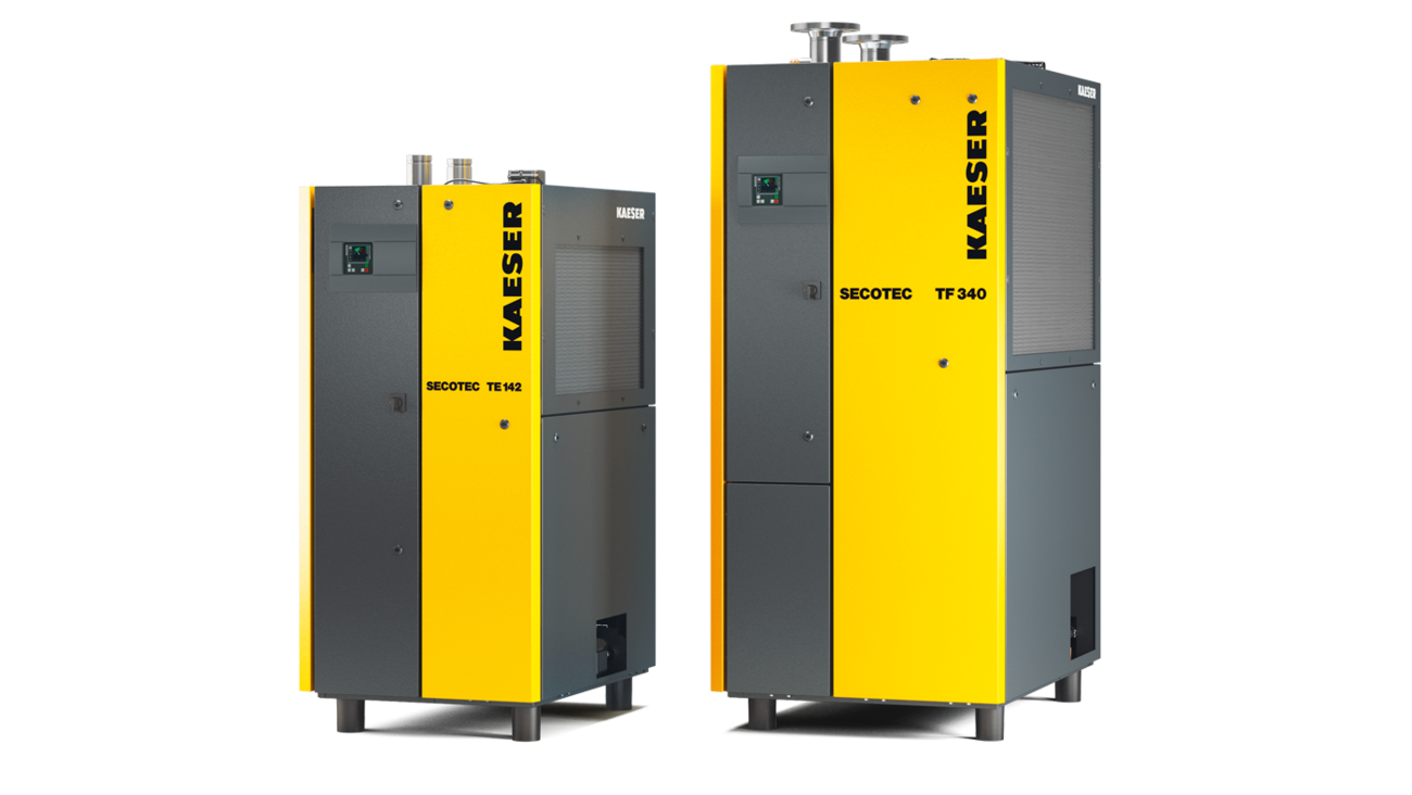 Energy-saving SECOTEC refrigeration dryers from 10 5 to 34