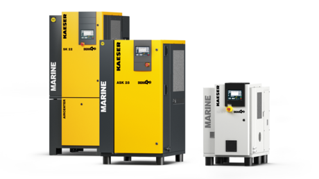 Screw compressors specifically designed for marine compressed air use.